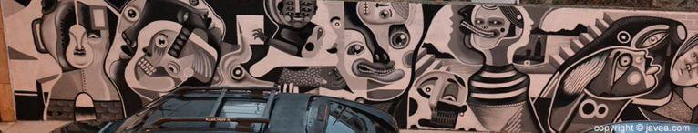 Gran parte del mural