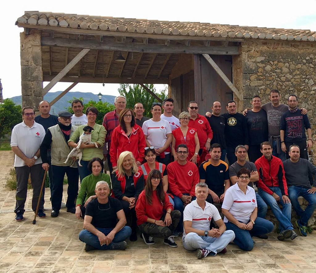 Grupo voluntarios de Cruz Roja en la campaña Naranja 2018