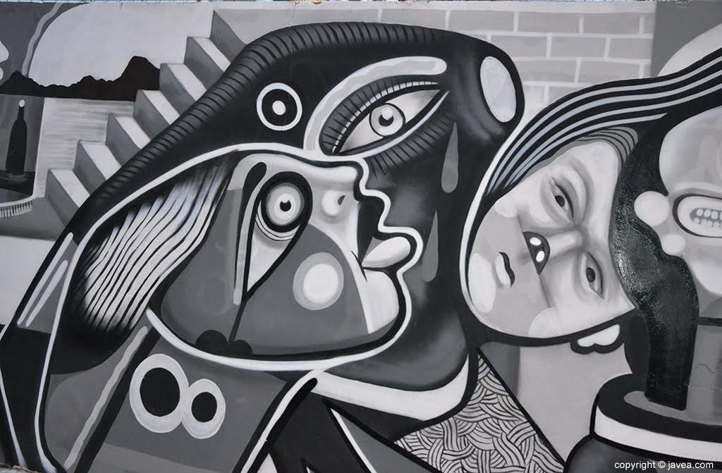 Parte del mural hecho por Gabriel