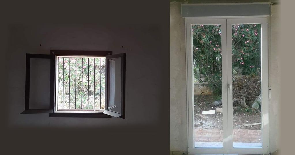 Fenêtre avant et après Alucardona Pvc y Aluminios, SL