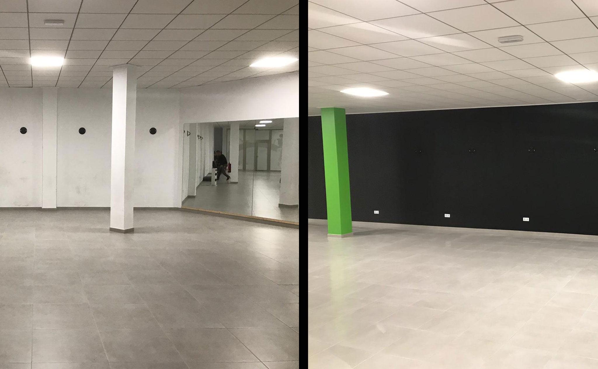 Desarrollo y puesta en marcha de las instalaciones de un gimnasio – Pinturas Juanvi Ortolà