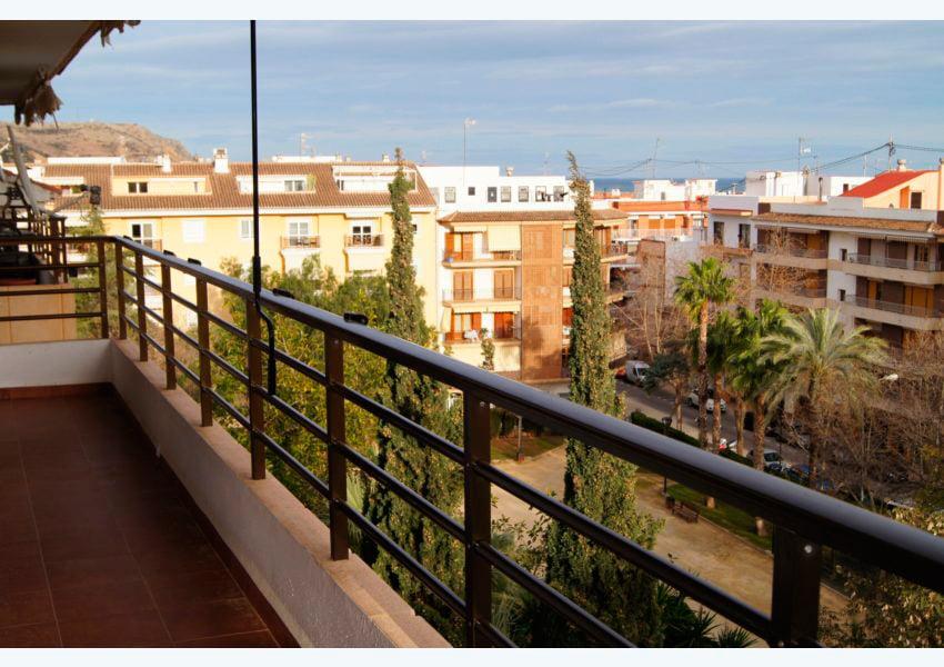 Balcón de la casa Javea Houses Inmobiliaria