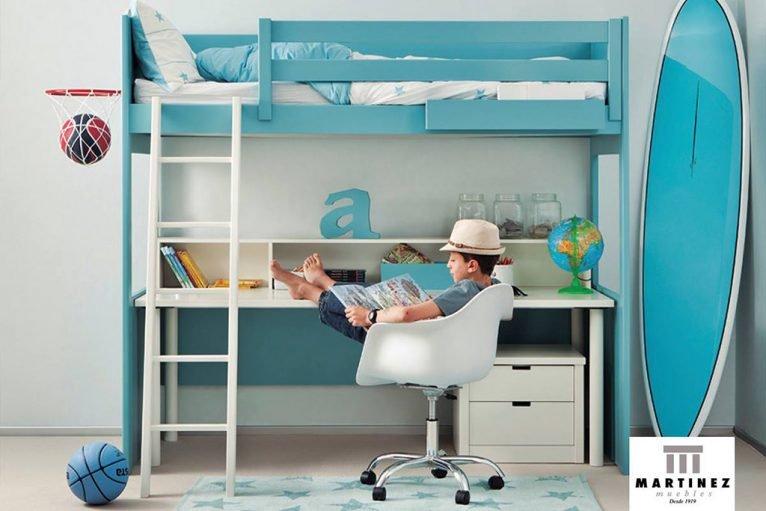 Cama en azul Muebles Martínez