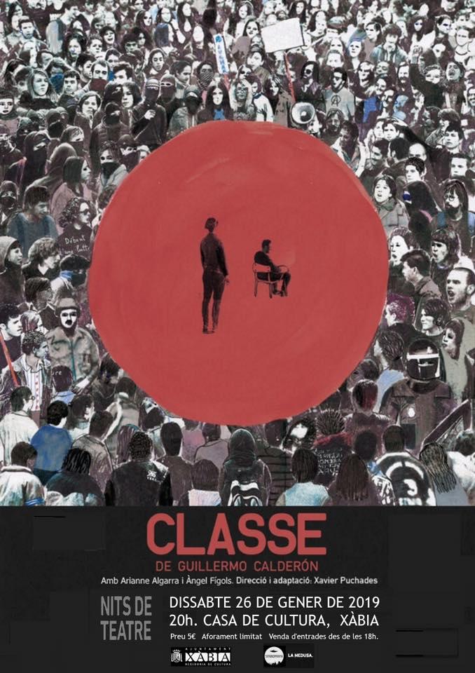 Cartel de la obra teatral Classe