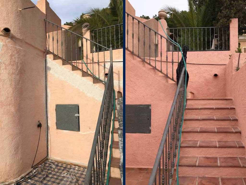 Exterior antes-después Pinturas Juanvi Ortolà