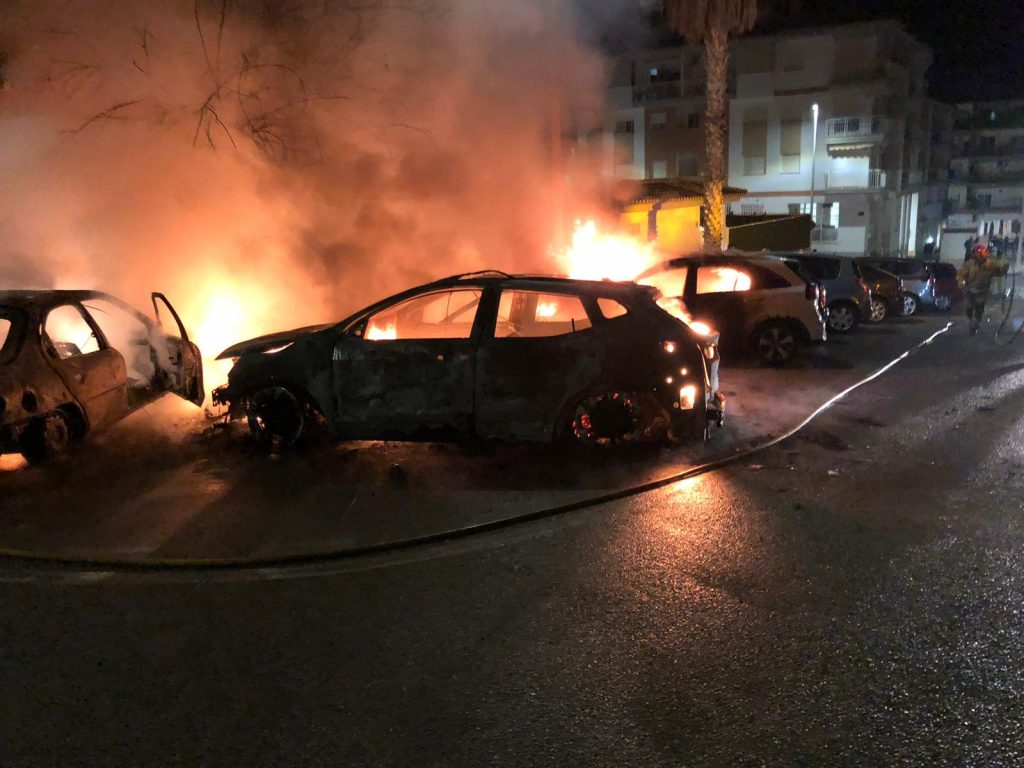 Incendio coches