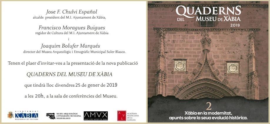 Presentación de Quaderns del Museu