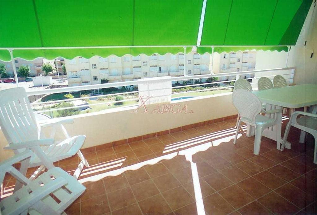 Terrassa amb tendal Xabiga Immobiliària