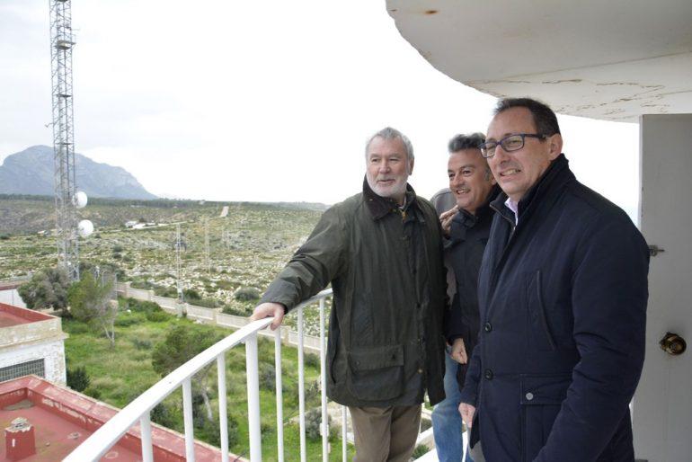 Visita de les autoritats al Cap de Sant Antoni