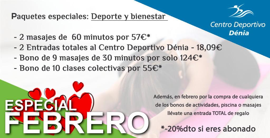 Especial San Valentín Centro Deportivo Dénia