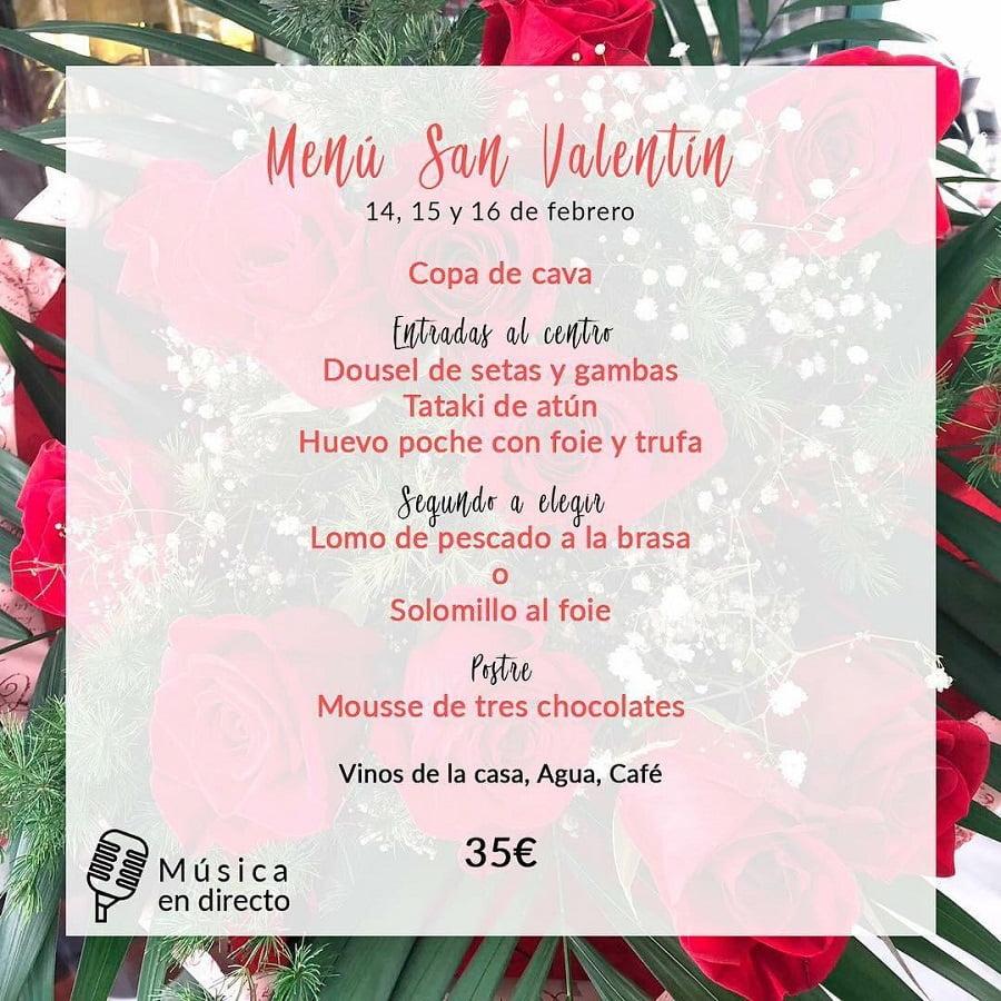 Especial San Valentín Restaurante La terraza del canal