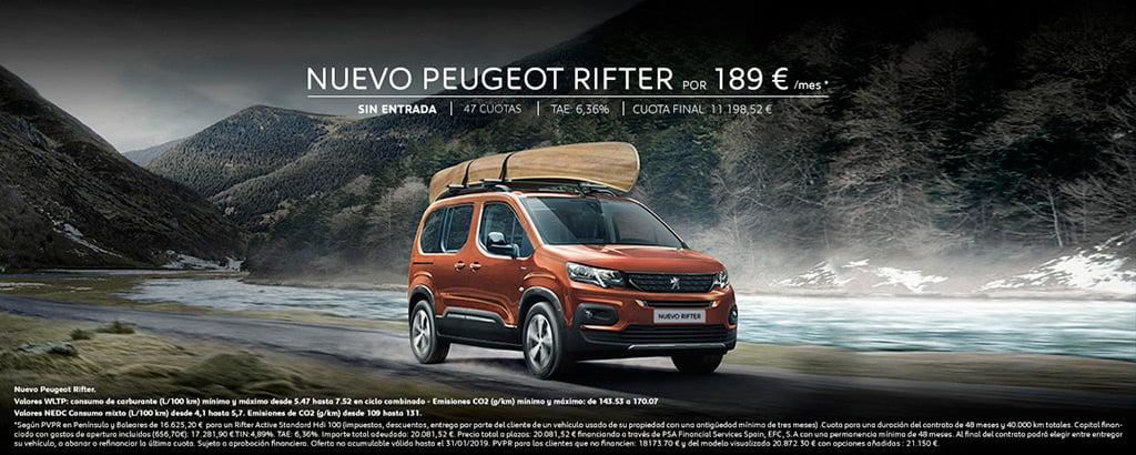 Peugeot Rifter en Peumovil Denia