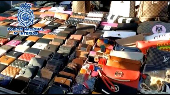 Productos falsificados en Dénia y Benidorm