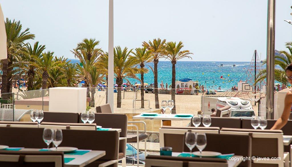 Terrassa amb vistes a la platja de l'Arenal - Restaurant La Terrassa del Canal