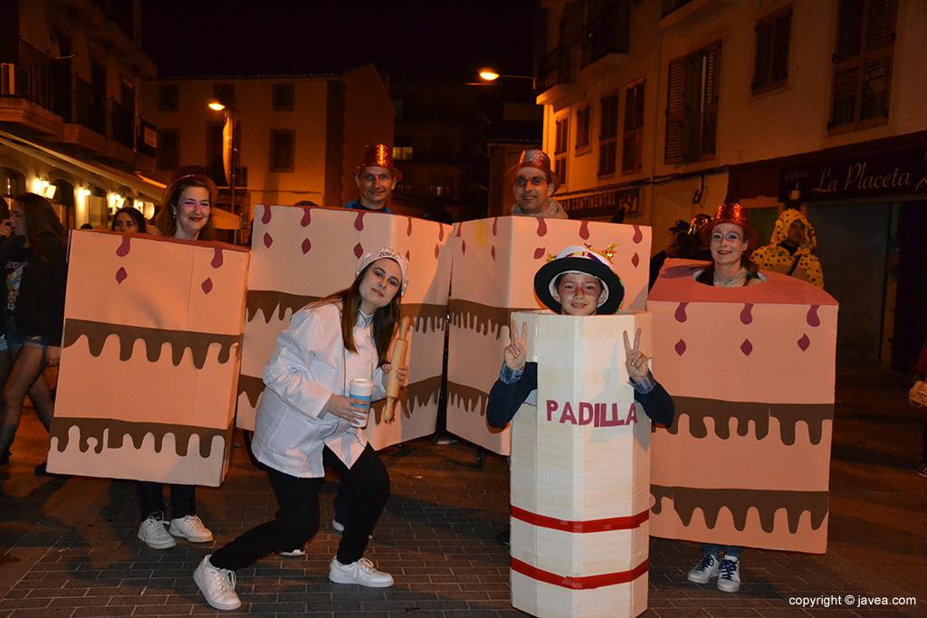 Disfressa de pastís al Carnaval de Xàbia