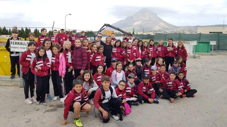 Alumnos del colegio Mª Inmaculada en el Ecoparc