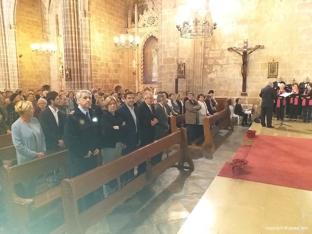 Autoridades en la misa del Nazareno