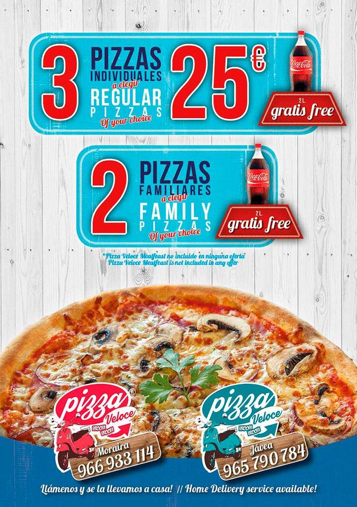 Carta Pizza Veloce – Restaurante Ammos