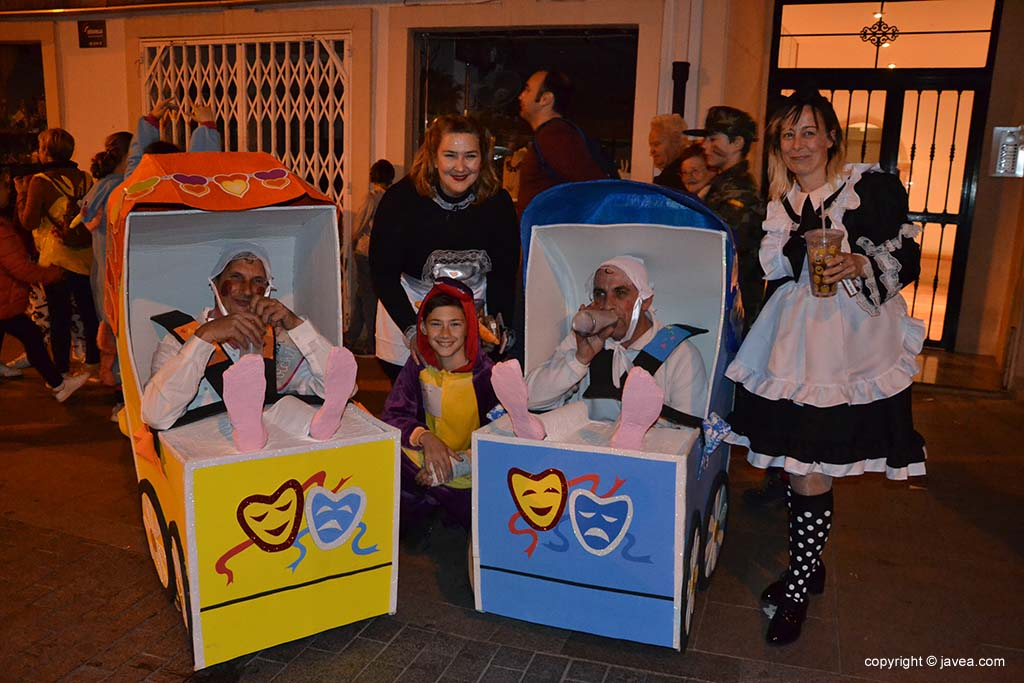 Disfressa de parella al Carnaval de Xàbia