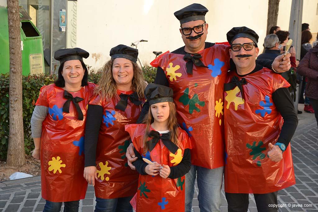 Disfressa de pintors al Carnaval de Xàbia