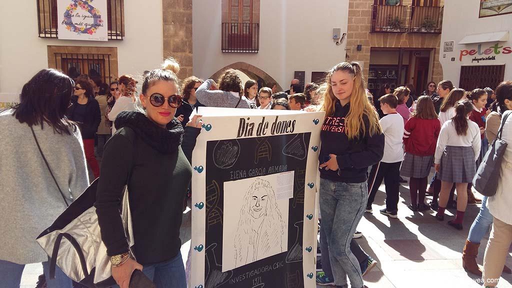 María Ferrer en la concentración del Día de la Mujer