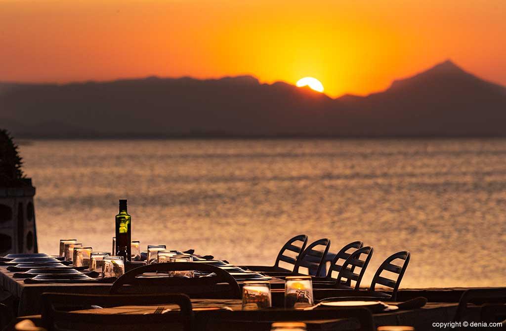 Puesta de sol en la Terraza Restaurant Noguera