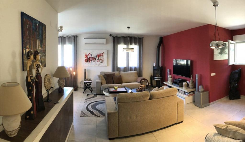Sala de estar de la vivienda