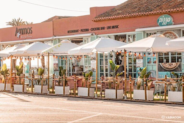 Terraza en Jávea - Restaurante Ammos