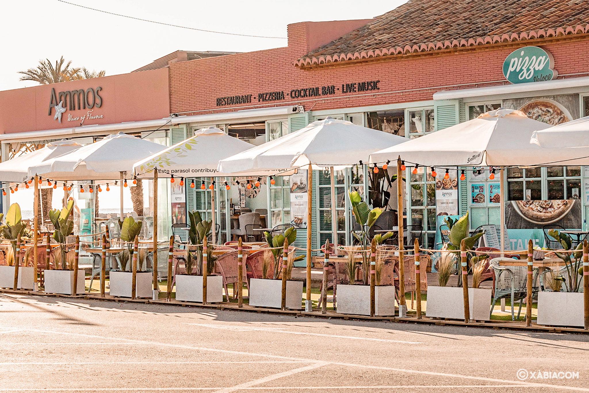 Terraza en Jávea – Restaurante Ammos