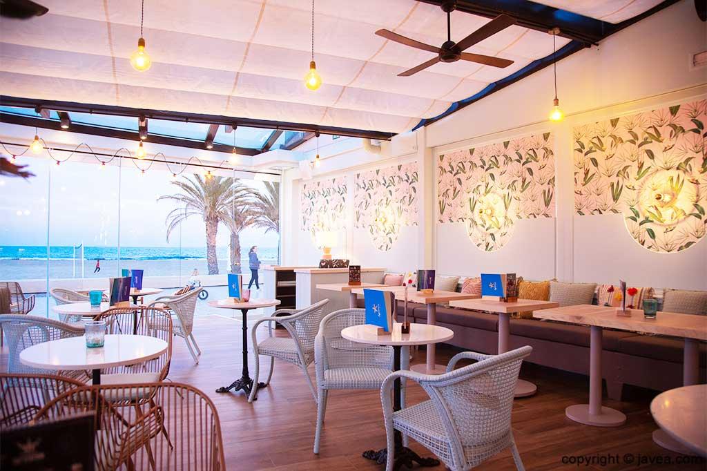 Vistas al mar Restaurante Ammos
