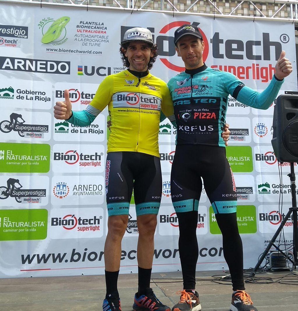 Ade Moll y Dani Cepa en el podio