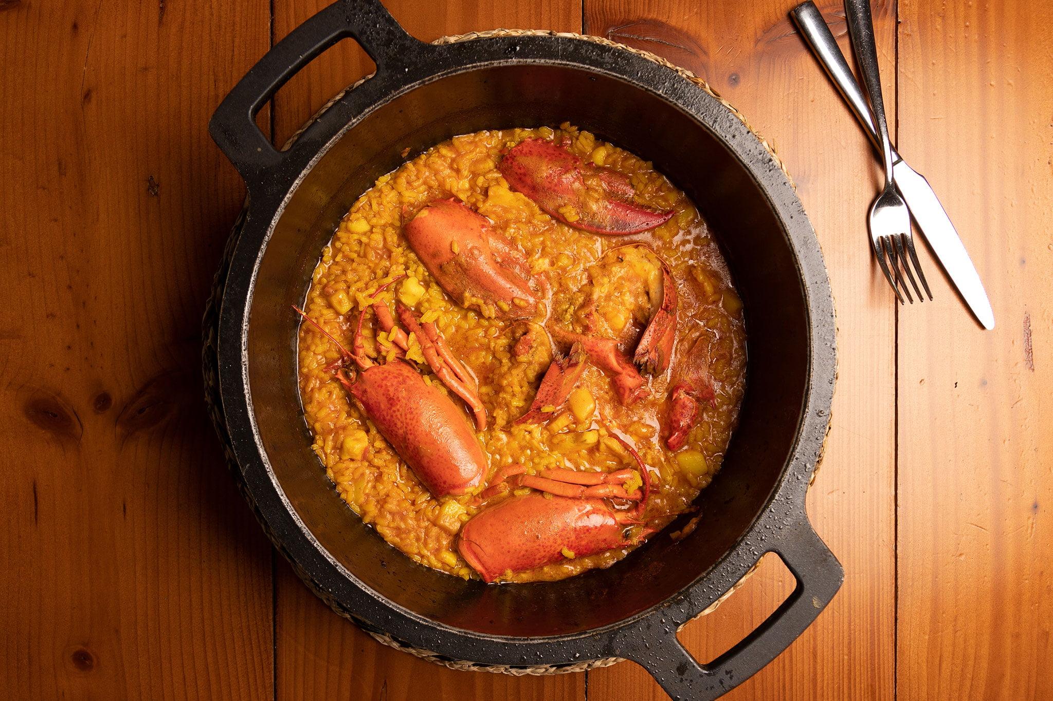 Arroz con bogavante – Restaurante Posidonia