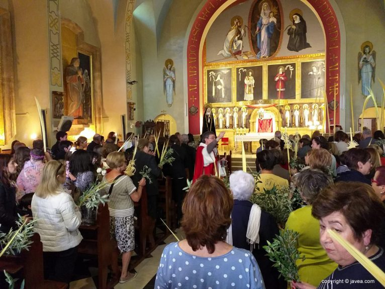 Bendición de las palmas en el Convent