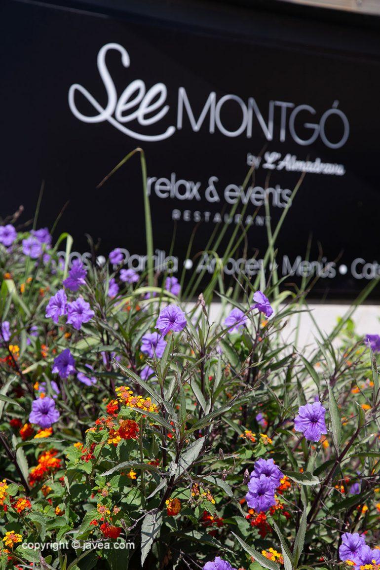Cartel entrada Relax & Events - Restaurante SeeMontgó