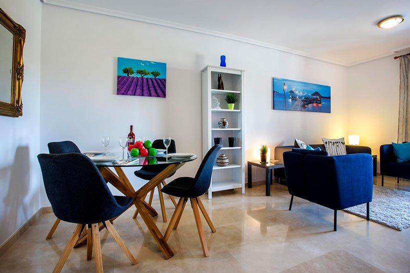 Comedor Apartamento Puerto Aguila Rent a Villa