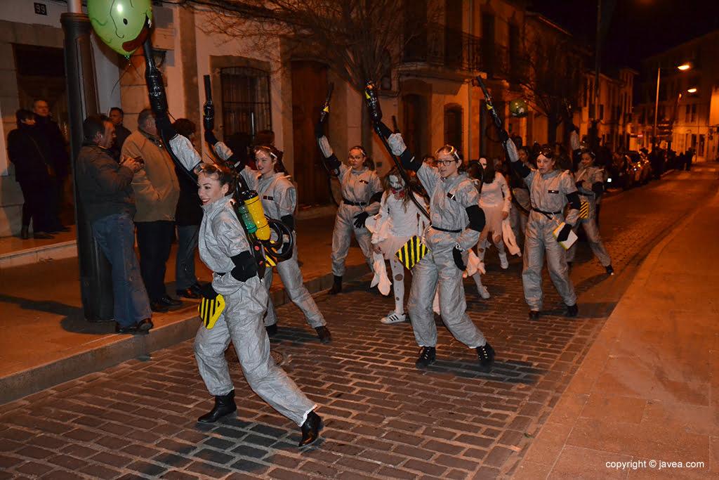 Grup de ball que obre la rua de Carnaval 2017
