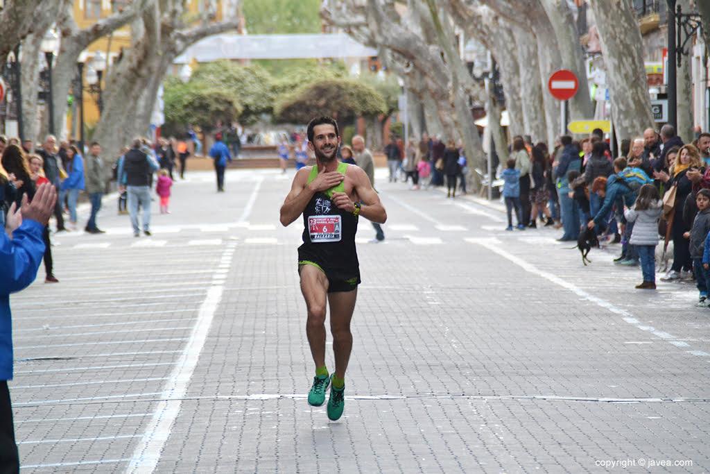 García Barragán entrando en meta