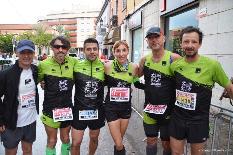 Grupo Atletas del CA Llebeig Xàbia