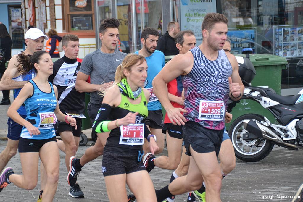 MªIsabel Ferrer durante la carrera