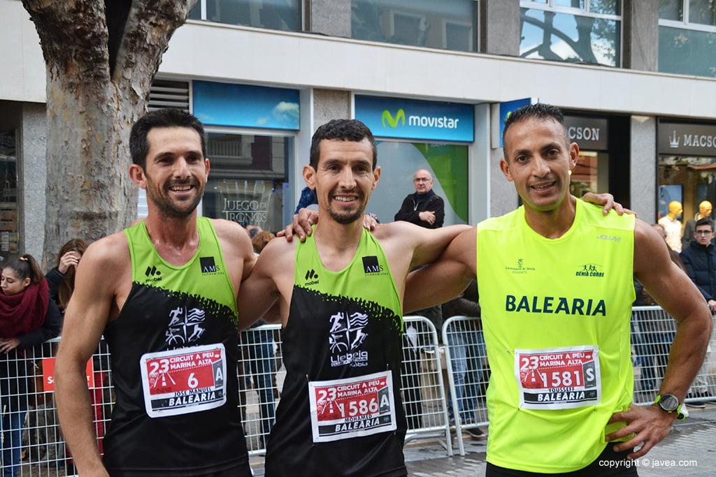 Tres xabieros triunfadores en Dénia