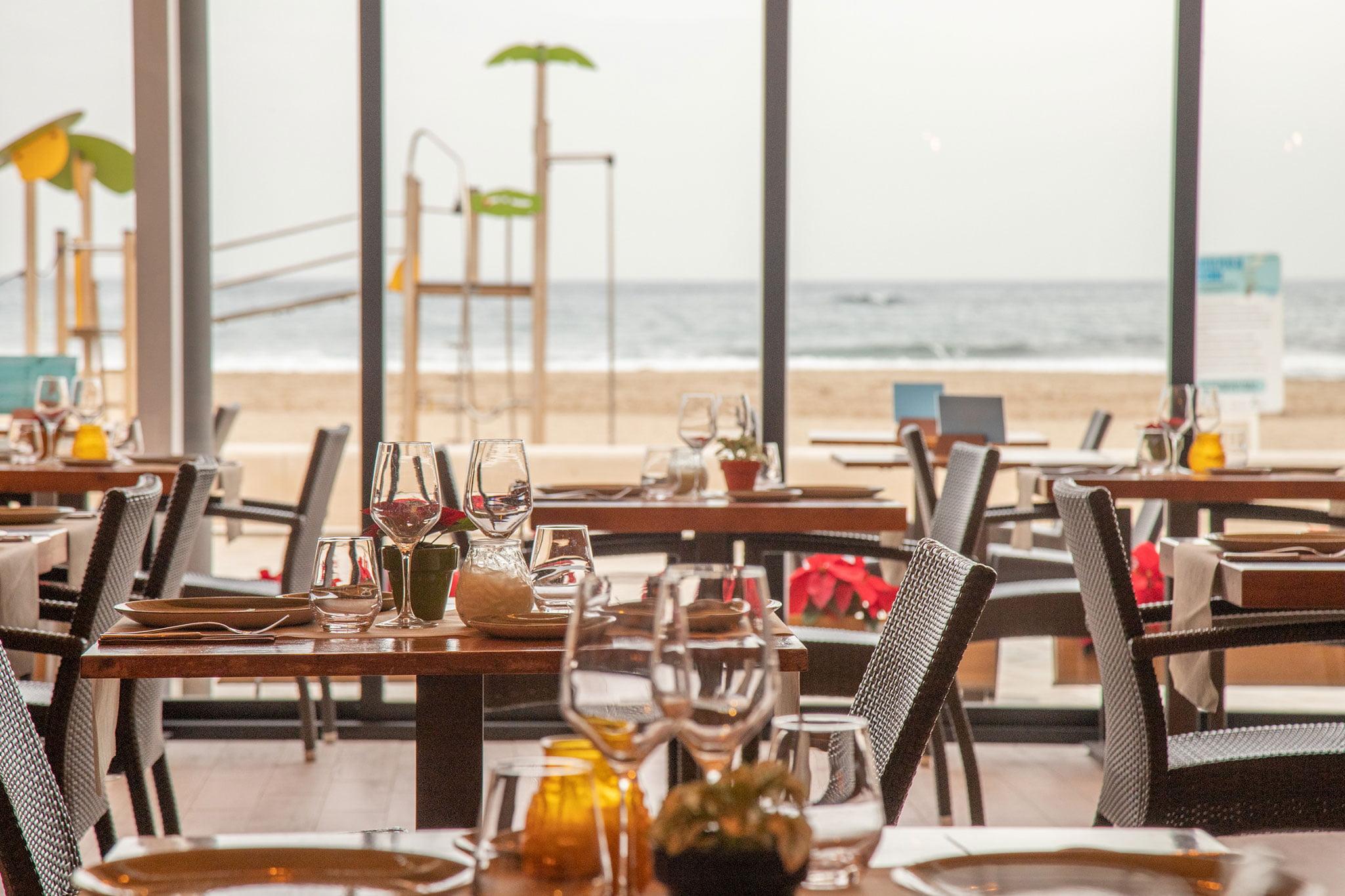 Vistas al mar desde el comedor de Restaurante Posidonia