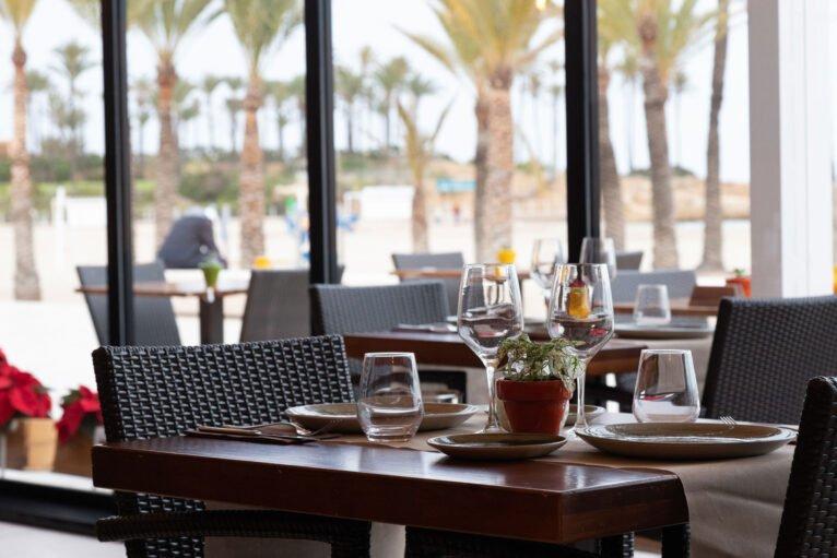 Vistas desde el comedor de Restaurante Posidonia