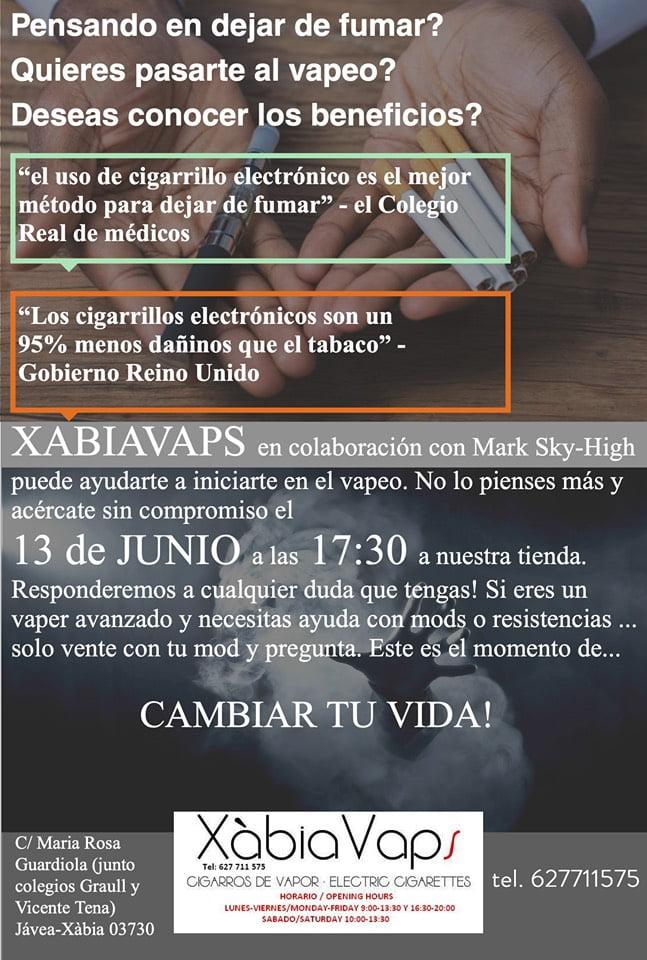 Taller cigarillo electrónico en Jávea - Xàbia Vaps