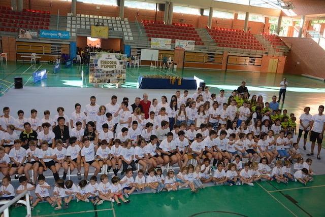 Alumnos de escuelas deportivas y clubes
