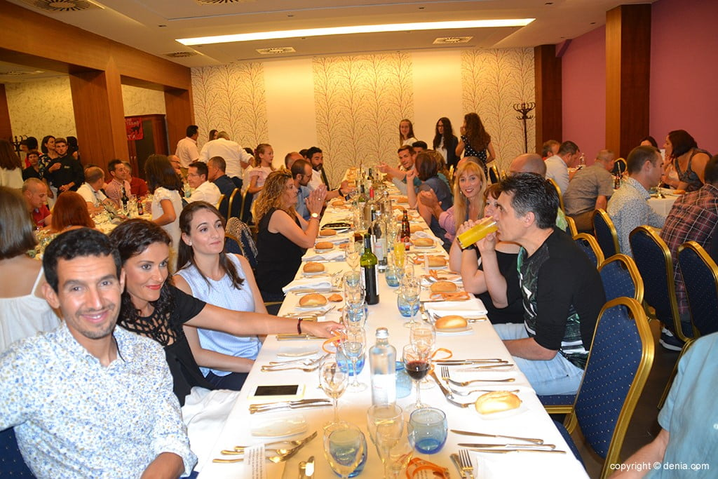 Diners durante a gala