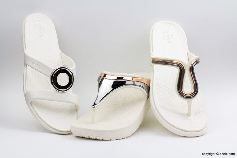 Crocs blanques Calçats Ramon Marsal