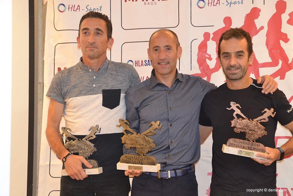 Diego Vidal, Víctor Pérez e Javier López.