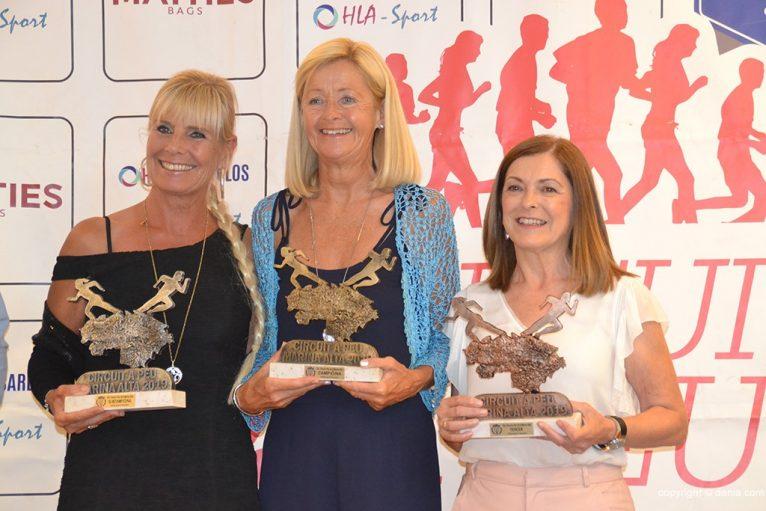 Jane Aromush, Andrea Johanesdottir e Gema Miñana