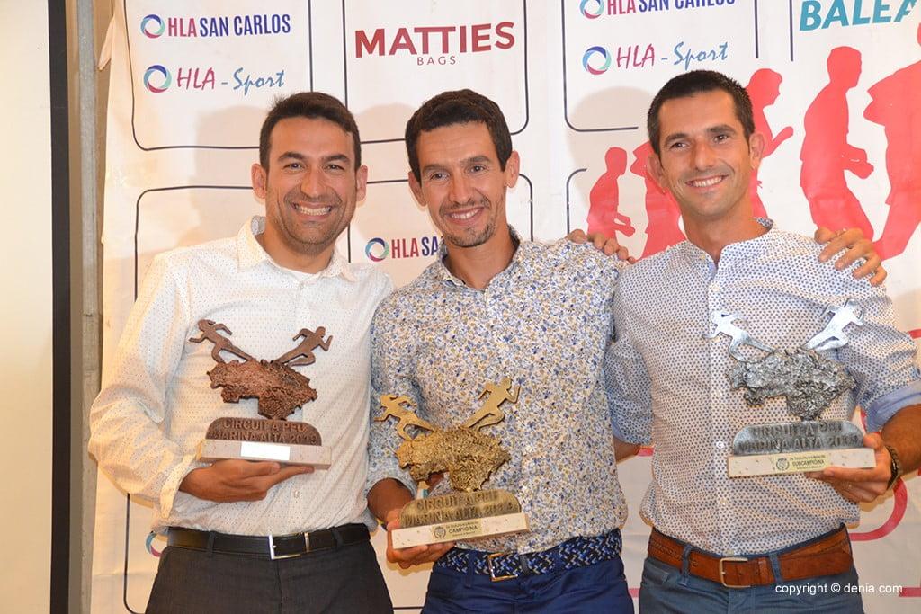 Moha Rida Younes, José Manuel García e Miguel Ángel Martínez.