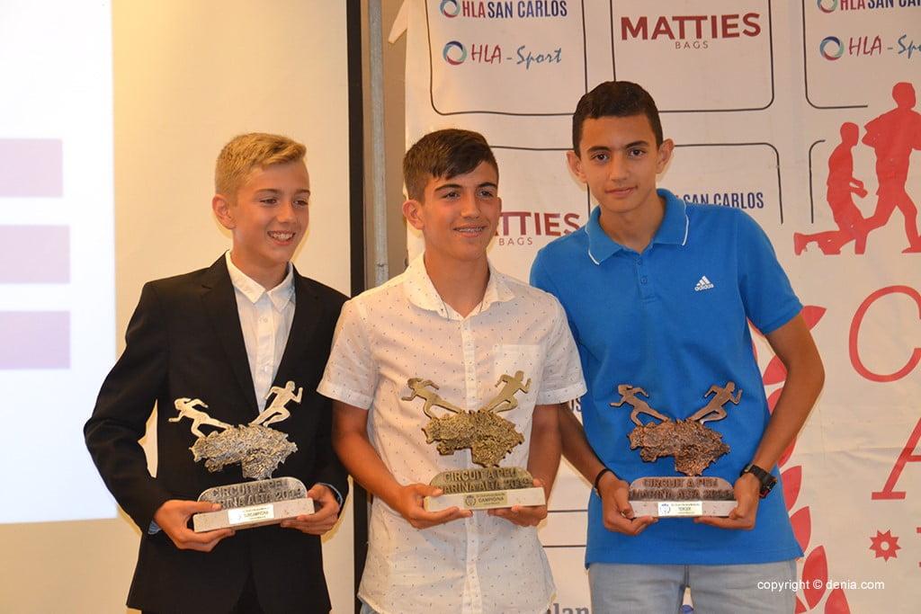 Pau Moncho, Carlos González e Adnan Amhit Ait.